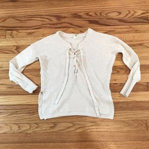 Kaisely Anthropologie Sweater Pullover Tie Neck